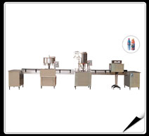 The production line of washing,filling,capping machines